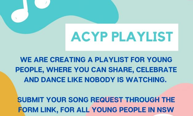 Take part in the Spotify young people playlist by ACYP